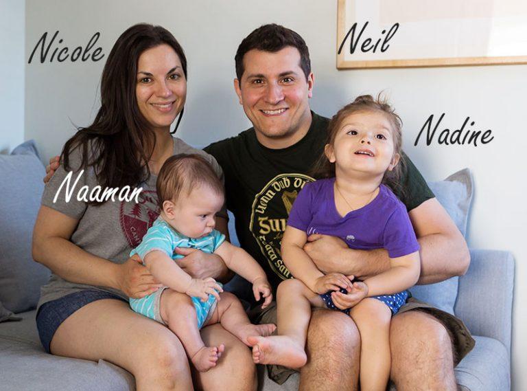 Johnson family photo with Nicole, Neil, Nadine and Naaman